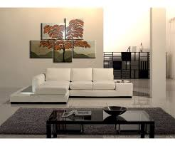 original home decor burnt orange tree painting unique layout original gold huge modern