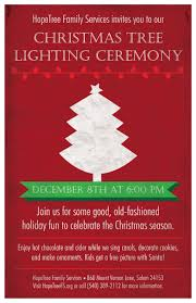 upcoming events tree lighting ceremony hopetree