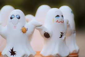 halloween ghost wallpaper white ghosts figurines free image peakpx
