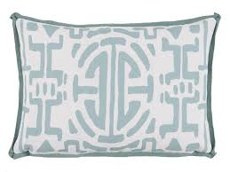 out35 mint surf geometric print outdoor lumbar pillow