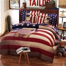 Duvet 100 Cotton Teddy Bear Bedding Set Kids King Size Queen Twin Cartoon Quilt