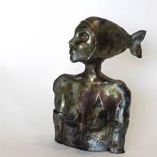 sculptures home decor the black mermaid ceramic sculptures unique ceramic figurine