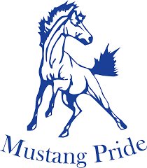 mustang horse logo grand erie district board brantford collegiate institute