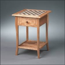 yellow birch chess table