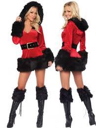 santa claus costume womens fur trim v neck hooded santa claus costume