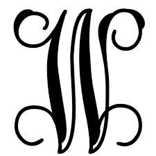 Create Monogram Initials Vine Monogram Letter W Initial Initials Monograms And Cricut
