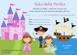 princess and pirate party invitations home party ideas