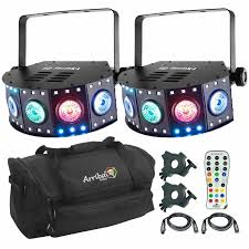 chauvet dj fxarray q5 effect light 2x chauvet dj fxarray q5 inc carry bag remote cls and cables
