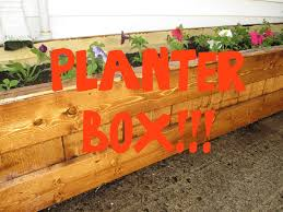 diy planter box youtube