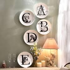 Nordic Style Ceramic Decorative Hanging Plates Animal English