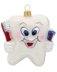 happy tooth personalized ornament