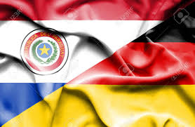 Paraguayan Flag Waving Flag Of Germany And Paraguay Stock Photo Picture And