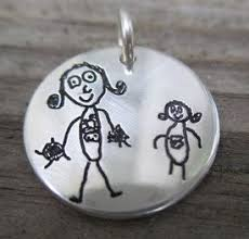 personalized children s jewelry 7 best children s artwork into jewellery images on