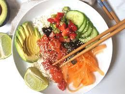 nouvelle recette de cuisine nouvelle recette healthy le poke bowl biba