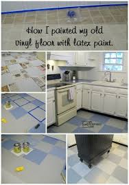 how i painted my vinyl floor my repurposed