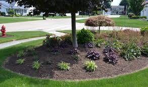 a corner lot planting bed that u0027s about 40 to 50 feet long by about