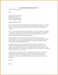 Sample Business Letter Of Recommendation by 5 Letter Of Recommendation Format For Graduate Expense
