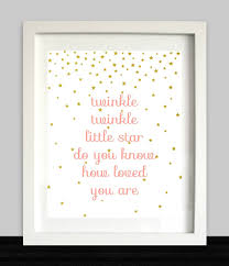 twinkle twinkle little star do you know how loved you are star twinkle twinkle little star do you know how loved you are star art nursery rhyme coral and gold girl nursery art
