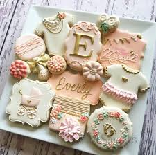 baby shower cookies baby girl cookies pinteres