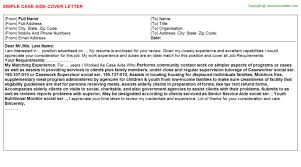 case aide cover letter