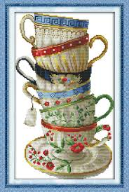 yeesam new cross stitch kits advanced exquisite coffee cup 14