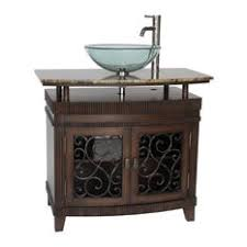 Vessel Sink Waterfall Faucet Glass Vessel Sink With Waterfall Faucet Bathroom Vanities Houzz