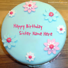 fondant birthday cake for sister with name