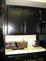 Black Painted Kitchen Cabinets by Best Paint For Kitchen Cabinets Red Color