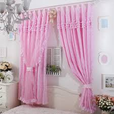 Ruffled Curtains Pink Princes Pink Base Red Rose Ruffle Curtain Window Treatment