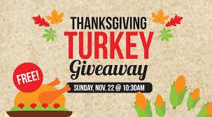 thanksgiving turkey giveaway in denton the bridge church