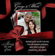 Red And Black Wedding Script Wedding Photo Invitations Happy Faces Beautiful