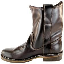 womens cowboy boots uk womens fly nota leather pull on mid calf boots 3