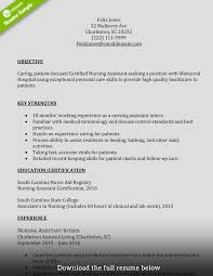 Sample Resume Certified Nursing Assistant Certified Nursing Assistant Resume Objective Templates For Manual