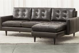 Leather Apartment Sofa Sofas Center 53 Awful Crate And Barrel Leather Sofa Photos Design