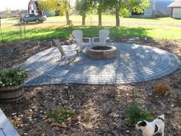 Firepit Stones Paver Patio With Pit This Might Work For Of Our