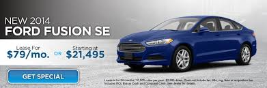 ford lease lease a 2014 ford fusion se for 79 month