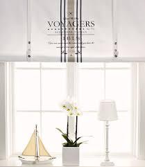 raffrollo design neu raff rollo seaside landhausstil gardine 140 x 100 cm maritim