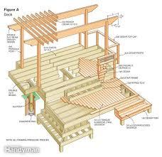 deck plans com deck plans cedar pergola composite decking and pergolas