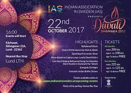 diwali dhamaka 2017 u2013 indian association in sweden
