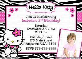 Birthday Invitation Card Maker Hello Kitty Birthday Invitations Dhavalthakur Com