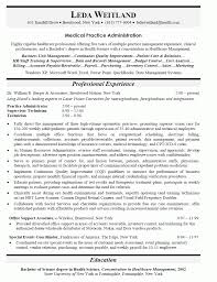 cover letter administration sample resume healthcare