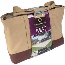 Awning Bag Camco Awning Leisure Mat 7 U0027 X 15 U0027 Brown With Canvas Bag