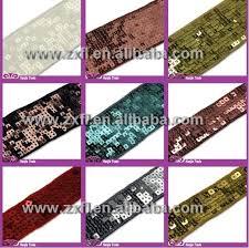 sequin ribbon wholesale square sequin ribbon paillette trim china mainland