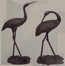 statues and lawn ornaments 29511 2 large iron egrets egret garden