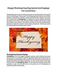 happy thanksgiving day quotes and sayings for loved ones by simpy