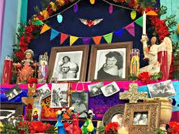 Dia De Los Muertos Halloween Decorations Día De Los Muertos Altars Loving Tribute To Deceased Family