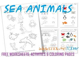 free printable sea life coloring pages printable sea animals worksheets activities for sea animals