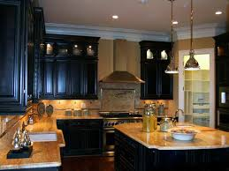 Black Modern Kitchen Cabinets by Wonderful Black Kitchen Cabinets With White And Dark Countertops