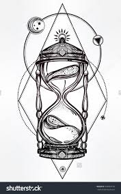 hand drawn romantic beautiful drawing of a hourglass vector