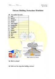 volcanoes worksheets science pinterest volcanoes vocabulary